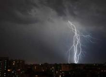 Штормовое предупреждение в Волгограде