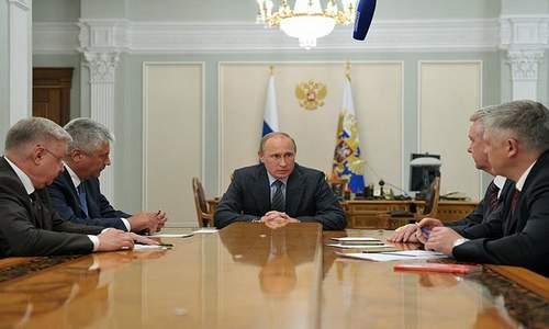 Встреча Путина с с руководством МВД, ФМС, Следственного комитета и города Москвы