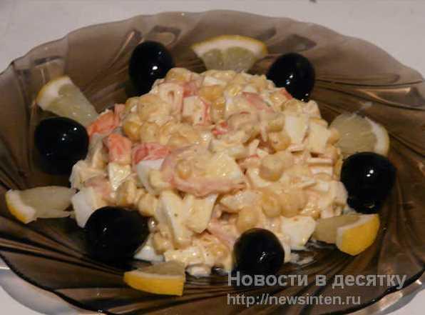 Новогодний салат 2014 с креветками