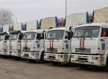 Гуманитарная колонна в Донецкую и Луганскую области