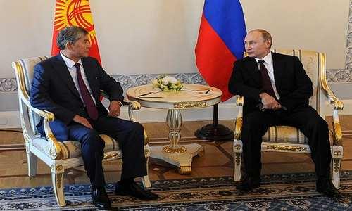 Встреча Владимира Путина и Асламбека Атамбаева 16 марта