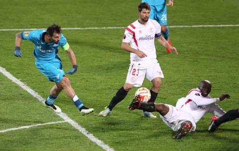 Лига Европы Данни атакует. Матч Зенит-Севилья