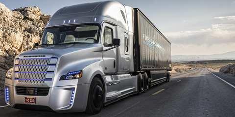 Самоуправляемый грузовик Freightline