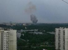 Москва. Пожар на АЗС 22 мая