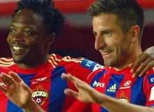 ЦСКА-Рубин 3:0 Тошич и Муса празднуют второй гол в ворота Рубина