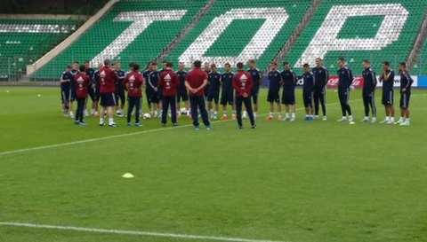 Тренировка сборной России по футболу перед играми с Беларусью и Австрией