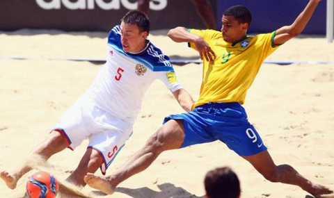 ЧМ 2015 по пляжному футболу 1/4 финала Бразилия Россия 5:6