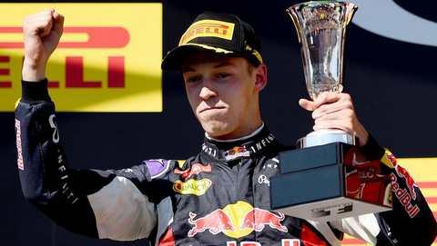 Даниил Квят на Гран-при Венгрии впервые поднялся на подиум