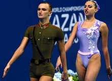 Синхронное плавание. Смешанный дуэт Александр Мальцев и Дарина Валитова