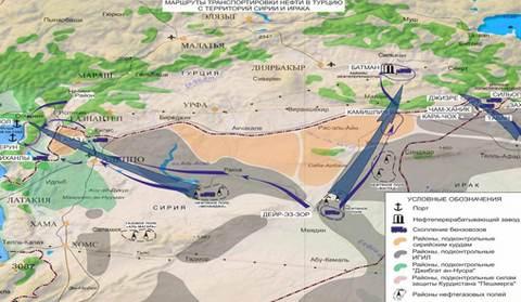 Доказательства России, что Турция покупает нефть у ИГИЛ