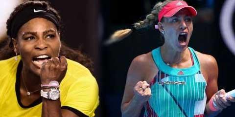 Теннис. Серена Уильямс и Анжелика Кербер сыграют в  финале  Australian Open 2016