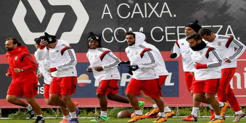 Бенфика готовится к матчу 1/8 финала Лиги Чемпионов 2015/2016 с Зенитом