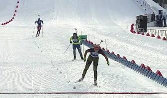 Немецкая биатлонистка Анника Кноль заняла третье место в женском спринте на ЧЕ 2016 в Тюмени