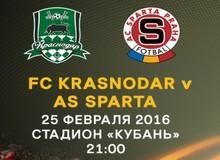 Лига Европы 2015/2016. Краснодар-Спарта 25 февраля