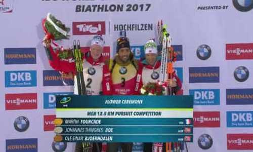 Биатлон, гонка преследования, мужчины, ЧМ 2017, результаты 12 февраля: Мартен Фуркад стал победителем пасьюта