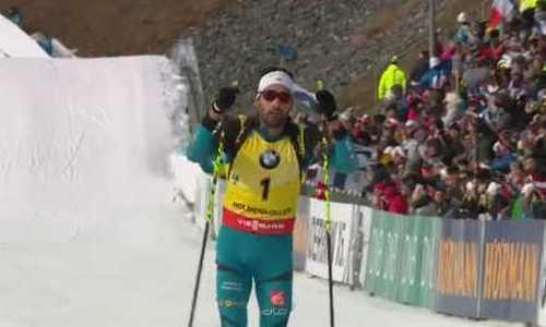 Мартен Фуркад стал победителем мужского масс-старта на последнем этапе КМ по биатлону в Холменколлене