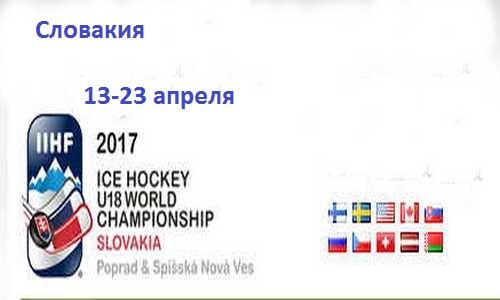 Юниорская сборная России в четвертьфинале чемпионата мира 2017 по хоккею сыграет со сборной Словакии