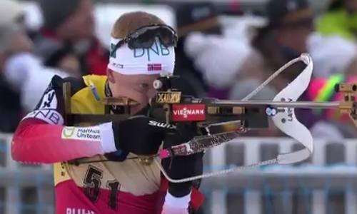 Йоханнес Бё-победитель мужского спринта 17 января в Рупольдинге