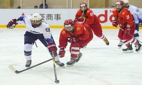 Хоккей,Россия-США, девушки,МЧМ 2019