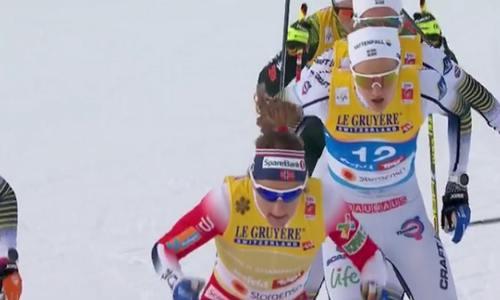 Женская эстафета на ЧМ 2019 по лыжным гонкам