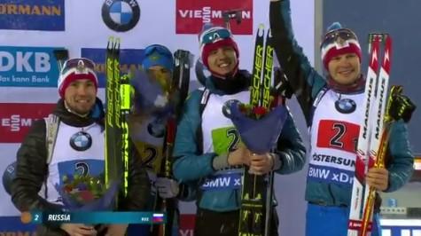 Российские биатлонисты завоевали бронзу чемпионата мира 2019 в мужской эстафете