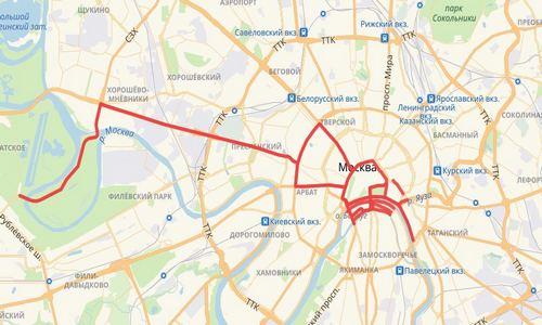 Перекрытие улиц в Москве 7 мая