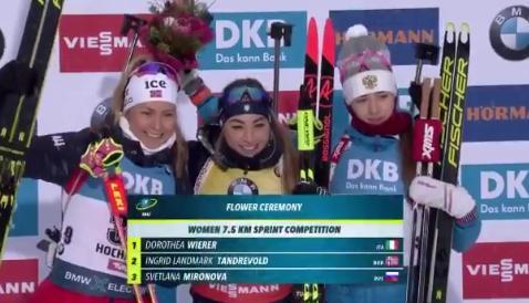 призеры женского спринта 13 декабря
