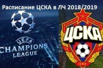 Расписание матчей ЦСКА в Лиге чемпионов 2018/2019 (групповой этап), результаты