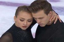 Виктория Синицина и Никита Кацалапов стали вторыми в короткой программе у танцоров на французском этапе Гран-при