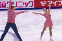 Российские фигуристы Бойкова и Козловский лидируют после короткой программы у пар на 5-м этапе Гран-при в Москве