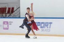 Диана Дэвис и Глеб Смолкин лидируют после короткой программы у танцоров (юниоры) в финале Кубка России по фигурному катанию