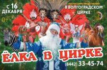 Новогоднее представление 2018 в Волгограде «Елка в цирке» пройдет с 16 декабря по 13 января