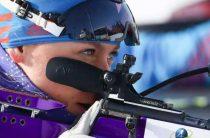 Евгения Павлова выиграла женский суперспринт 26 февраля на чемпионате Европы 2020 по биатлону в Раубичах
