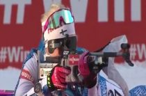 Финская биатлонистка Кайса Мякяряйнен завоевала золото в женском пасьюте 9 декабря на этапе КМ в Поклюке