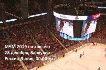 Хоккеисты сборной России матчем с Данией 28 декабря стартуют на молодежном чемпионате мира 2019