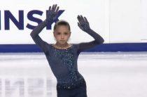 Российская фигуристка Камила Валиева лидирует после короткой программы у девушек на этапе юниорского Гран-при 2019 в Челябинске