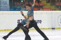 Полина Костюкович и Дмитрий Ялин лидируют после короткой программы у пар в финале юниорского Гран-при 2018