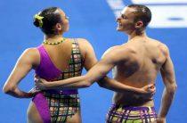 Синхронисты Майя Гурбанбердиева и Александр Мальцев завоевали золото ЧМ 2019 по водным видам спорта в миксте