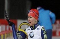 Украинская биатлонистка Елена Пидгрушная победила в женском спринте на этапе Кубка мира в Кэнморе
