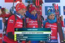 Итальянская биатлонистка Лиза Виттоцци сделала золотой дубль, выиграв женскую гонку преследования в Оберхофе