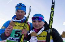Евгения Павлова и Дмитрий Малышко выиграли супермикст на чемпионате Европы 2019 по биатлону