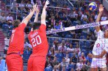 Мужская сборная России по волейболу в турнирной таблице Лиги наций 2019 занимает четвертое место