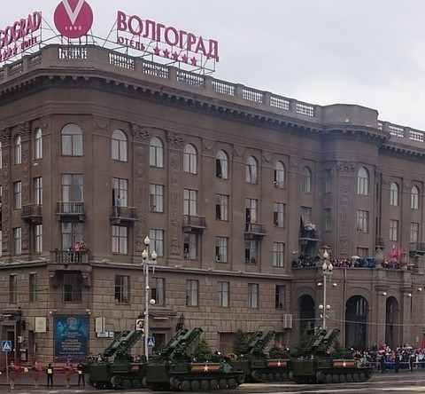 Военная техника на параде в Волгограде