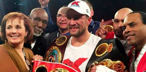 Сергей Ковалев нокаутировал француза Наджиба Мохаммеди в третьем раунде боя