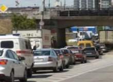 Автомобильная пробка в Волгограде на Второй Продольной