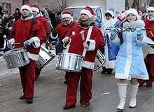 парад деда мороза