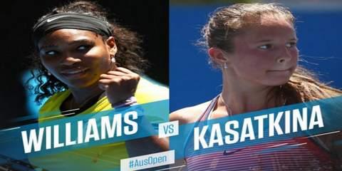 Серена Уильямс-Дарья Касаткина на Australian Open 2016