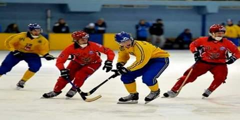 Хоккей с мячом. Россия-Швеция 3:6