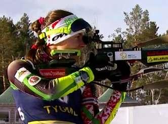 Биатлонистка Надежда Скардино