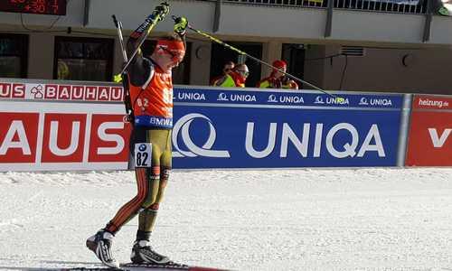 Мужской спринт 11 февраля на чемпионате мира 2017 по биатлону завершился победой немца Бенедикта Долля